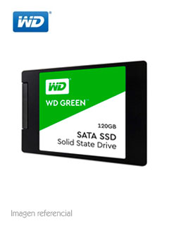 "Unidad de estado solido Western Digital, 120GB, SATA 6.0 Gbps, 2.5"", 7 mm."