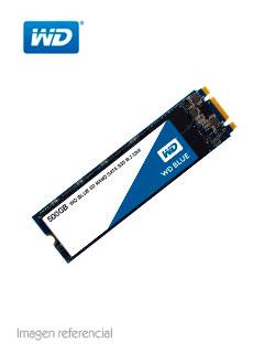 Unidad de estado solido Western Digital Blue, 500GB, SATA 6.0 Gbps, M.2 2280, 3D NAND.