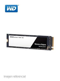 Unidad en estado solido Western Digital WD Black NVMe, 500GB, M.2 2280, PCIe Gen3 8 Gbps.