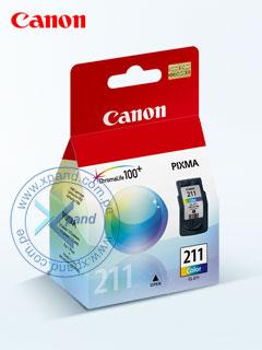 Cartucho de Tinta Canon CL-211, Tricolor, 9 ml,