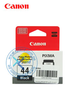 Cartucho de tinta Canon PG-44, negra, caja.