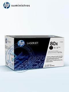 Cartucho de toner HP 80X, tecnologia láser, color negro