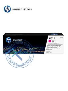 Cartucho de toner HP 201A, Magenta, presentación en caja.