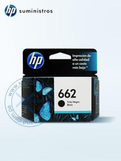 Cartucho de tinta HP 662 CZ103AL, Negro, Colgador.
