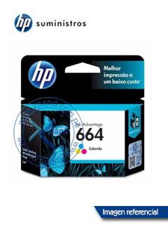 Cartucho de tinta HP 664, tricolor, caja.