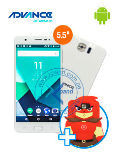 "Smartphone Advance Hollogram HL6246, 5.5"" 720x1280, Android 6.0, 3G, Dual SIM Desbloqueado"