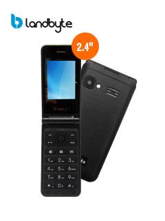 "Teléfono Celular básico LandByte LT2030, 2.4"" QVGA, GSM, Radio FM, Dual SIM, Desbloqueado."