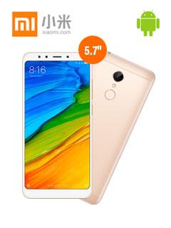 "Smartphone Xiaomi Redmi 5, 5.7"" 720x1440, Android 7.1, LTE, Dual SIM, Desbloqueado."