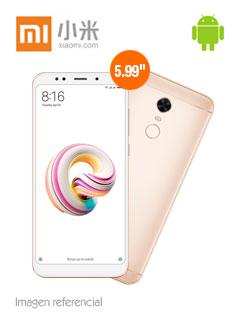 "Smartphone Xiaomi Redmi 5 Plus, 5.99"" 1080x2160, Android 7.1, LTE, Dual SIM, Desbloqueado."