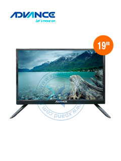 "Monitor TV Advance ADV19N00D, 19"" LED HD, 1366 x 768, ISDB-T, HDMI, VGA."