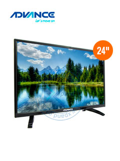 "Monitor TV Advance ADV24N00D, 24"" LED HD, 1920 x 1080, ISDB-T, HDMI, VGA."