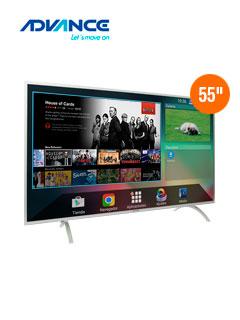 """Televisor Smart Advance ADV55V6, 55"""" LED, 4K, 3840x2160, ISDB-T, HDMI."""