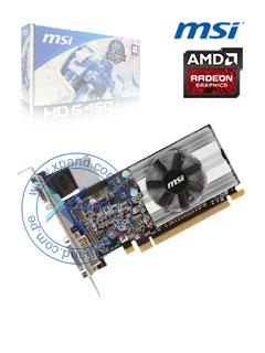 VGA 1G PC MSI HD6450 LP DDR3