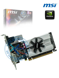 Tarjeta de video MSI NVIDIA GeForce 210, 1GB DDR3 64-bit, HDMI/DVI/VGA, PCI-E 2.0 X16.