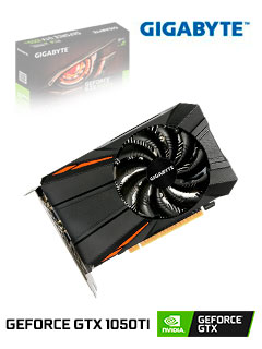 Tarjeta de video Gigabyte Nvidia GeForce GTX 1050 Ti, 4GB GDDR5 128-bit, PCI-e 3.0