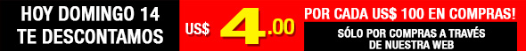 HOY MARTES 09 DE OCTUBRE DESCUENTO 4-0 X 100